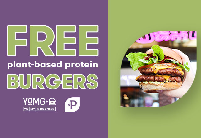 Free Plant-Based Protein Burgers, Serving At Nice Buns