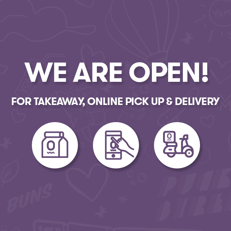 YOMG We ARE OPEN for takeaway, online pick up and delivery